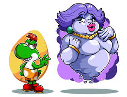 Paper Mario TTYD : Lil Yoshi and Dame Flurrie