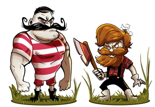 Don't Starve : Wolfgang and Woodie