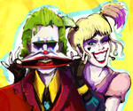 Joker and Harley Quinn : Give me a smile, pudding