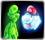 Super Mario : Gooigi and Boo Mario