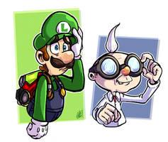 Luigi Mansion : E Gadd and Luigi