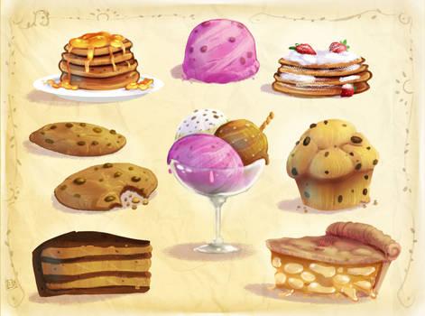 From Sketchbook : Sweet desserts