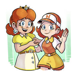 Mario Golf : Daisy and Azalea