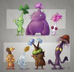 From Sketchbook : Pikmin species