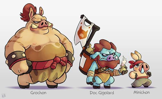 From Sketchbook : Pig Character-Design