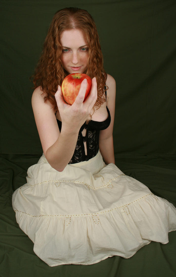 Female With Apple II by IQuitCountingStock