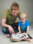 Father and Son Reading II