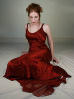 Woman Red Dress VIII by IQuitCountingStock
