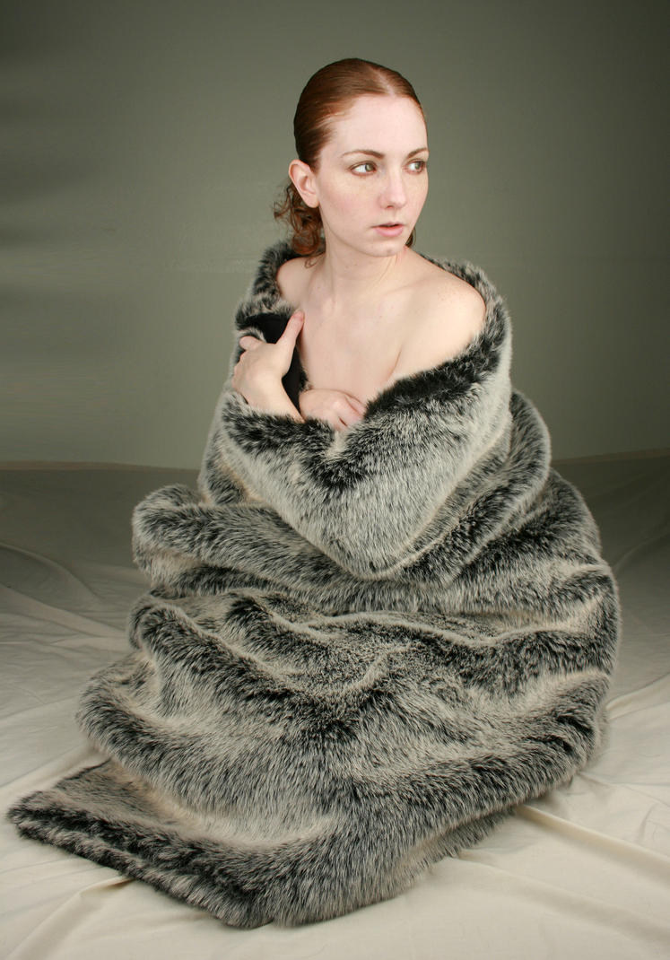 Woman in Fur I by IQuitCountingStock