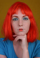 Woman Red Wig I by IQuitCountingStock