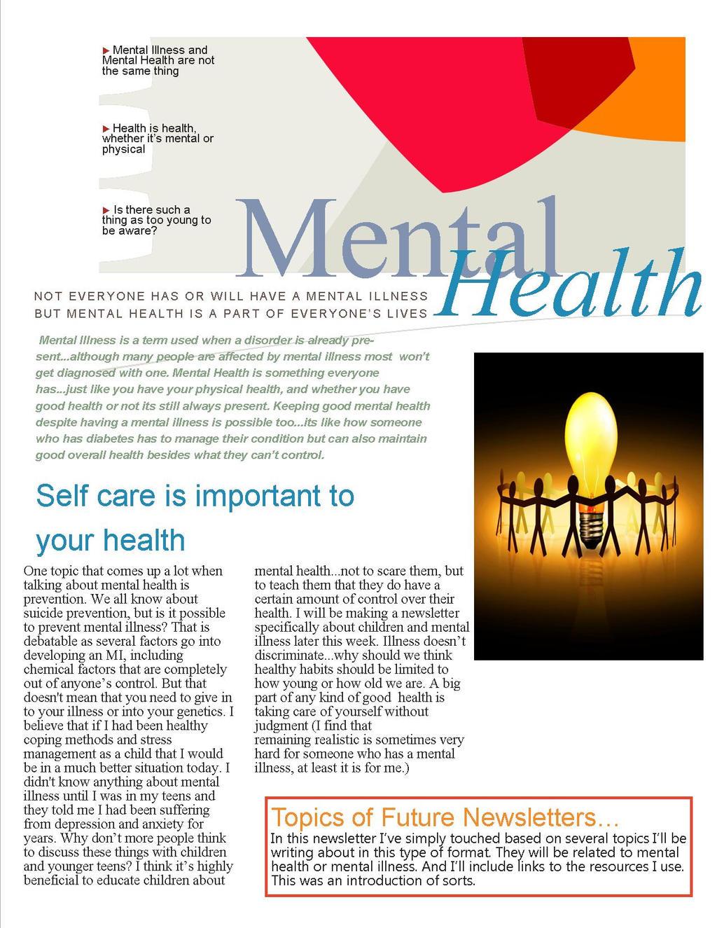 Mental health newsletter by ilovekakashi28 on deviantart for Health and wellness newsletter template