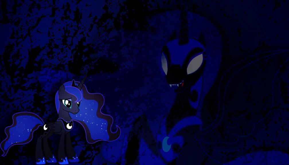 Luna vs nightmare moon by bdiddy20128