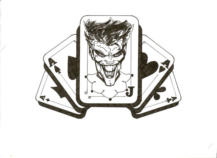 Joker tattoo design in inks by lrwaters on deviantart for Home by johker design