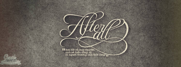 Typography ''After All''