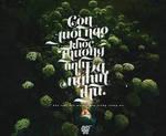Typography / Con tuoi nao cho em | From.GENIEDYO