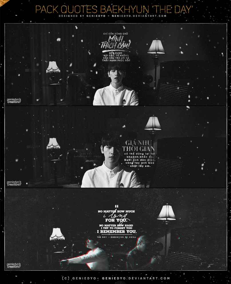 PACK QUOTES BAEKHYUN 'THE DAY' fr.GENIEDYO. by GenieDyo