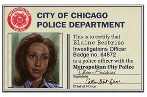 Elaine Police ID Badge