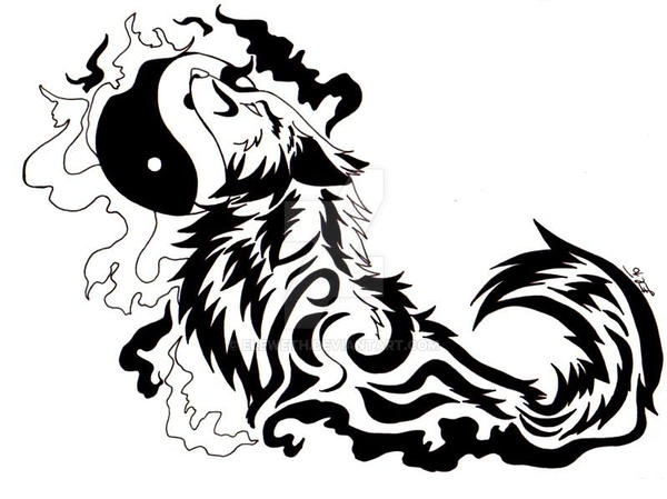 Yinyang Wolf Tattoo By Eleweth On Deviantart