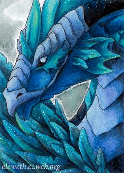 ACEO: Bluerrion by Eleweth