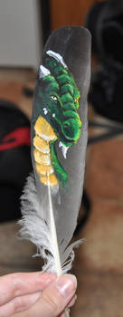 Feather: Green Dragon