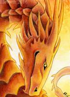 ACEO: Summer dragon by Eleweth