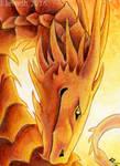 ACEO: Summer dragon