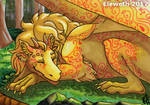 ACEO: Resting dragon