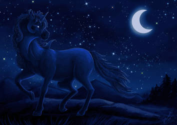 Speedpaint: Starry stallion by Eleweth