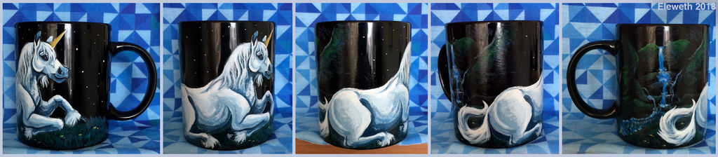 Painted mug: Unicorn