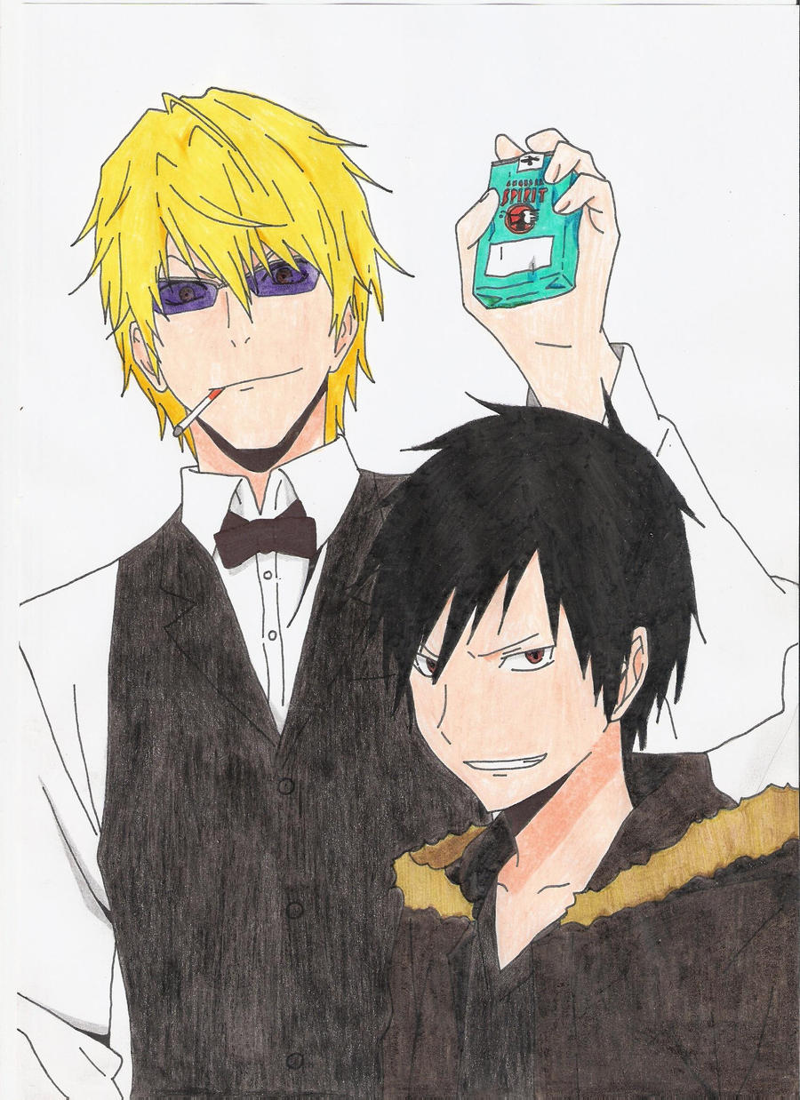 Shizuo and Izaya by kazekage121