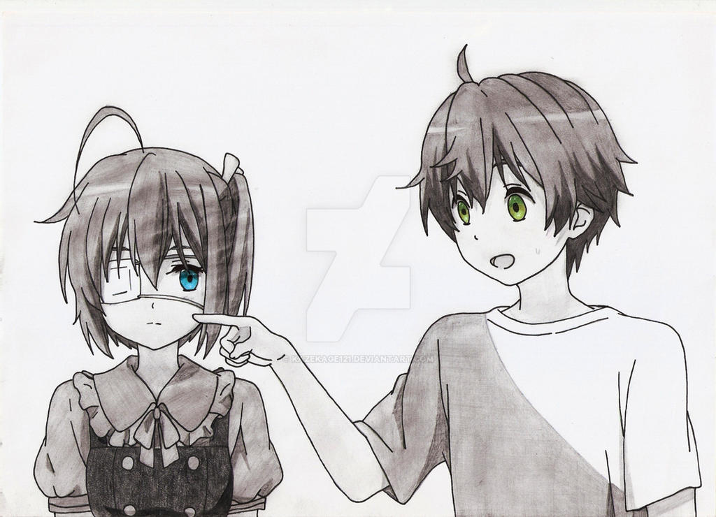 Rikka with Yuuta :3 by kazekage121
