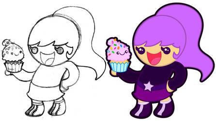 Cupcake Girl by MKnapik