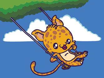 Swinging Kitty by MKnapik