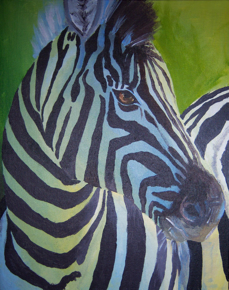 zebra painting by holliewood1391 on deviantart. Black Bedroom Furniture Sets. Home Design Ideas