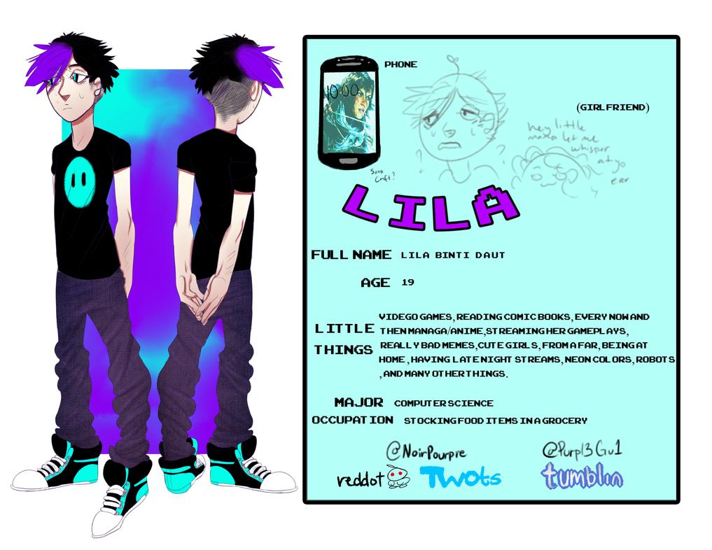 Lila reference sheet by CuernosBeste