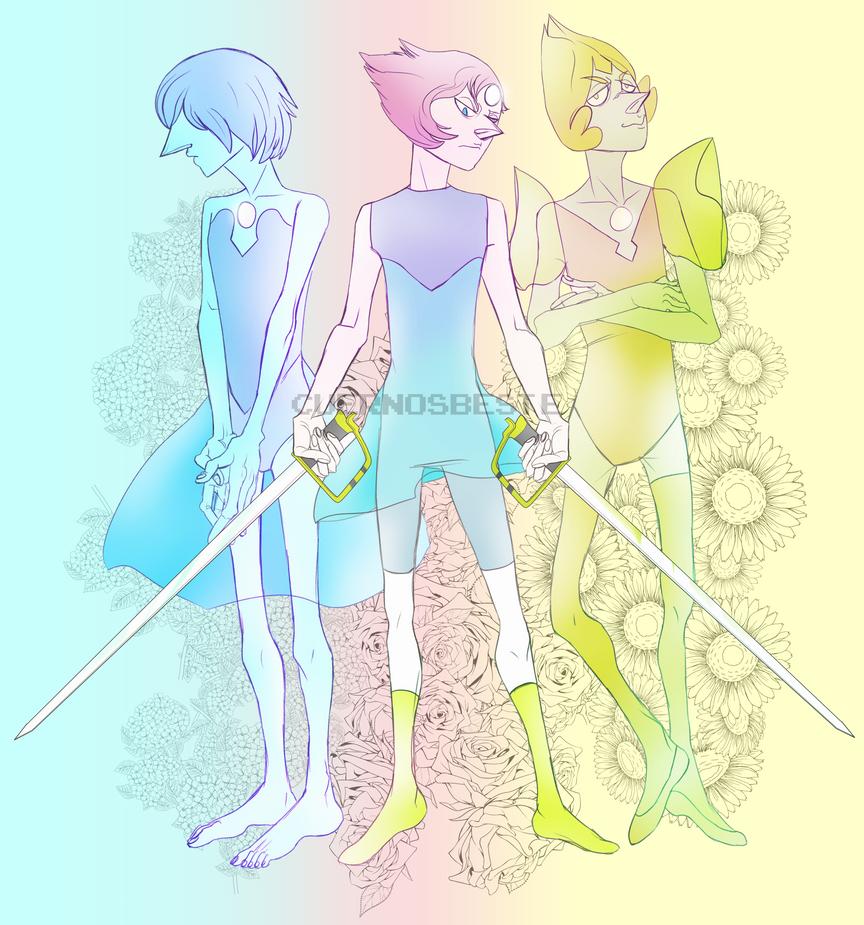 Pearl Trio by CuernosBeste