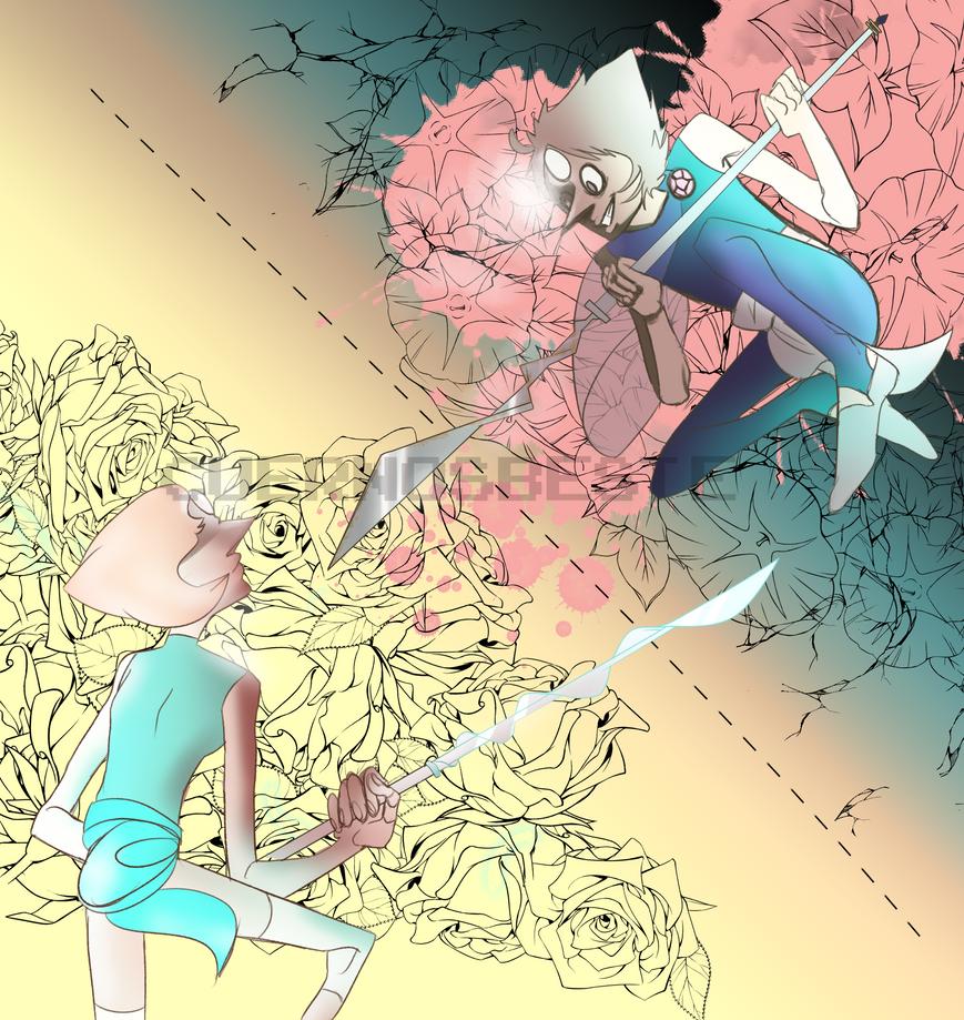 Evil Pearl vs Pearl by CuernosBeste