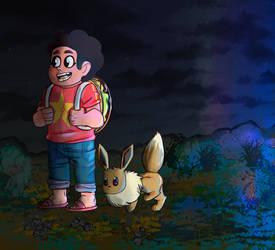 Steven and Eevee
