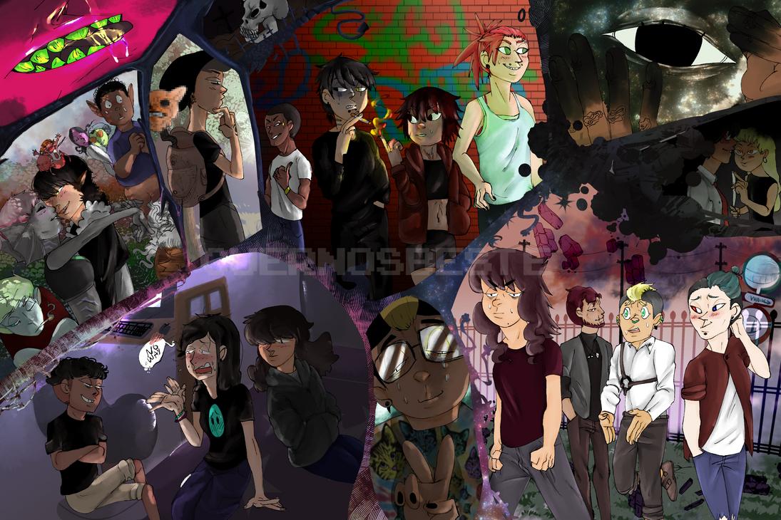 Collage of OCs by CuernosBeste