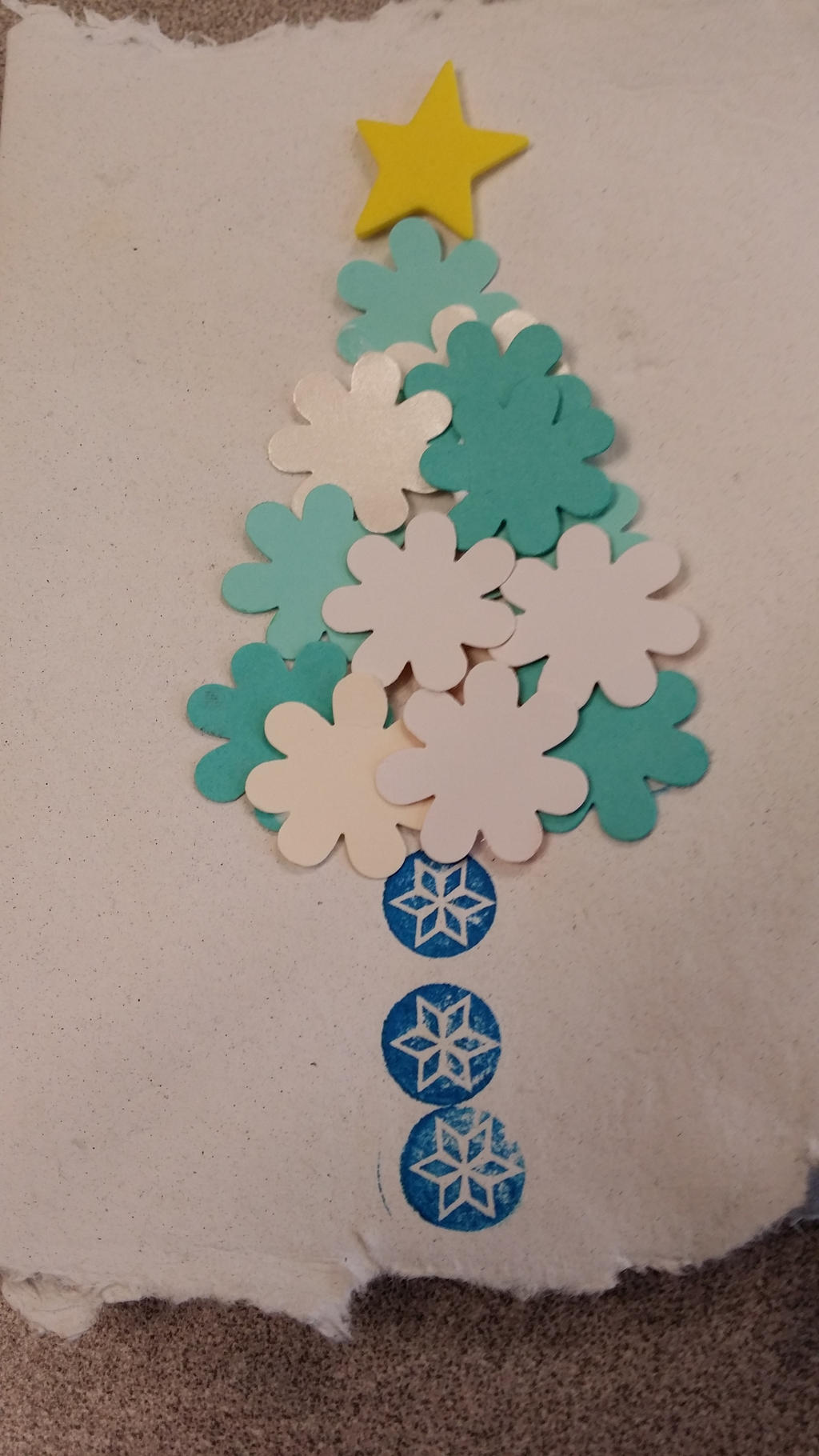 A Blue And White Christmas Tree By Mileymouse101 On Deviantart