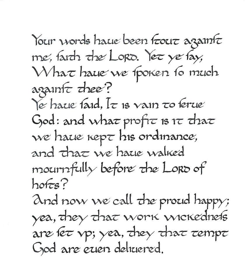 Calligraphy Practice Stout Words By Studentofrhythm
