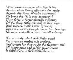 Calligraphy practice: Faerie Queen II:11