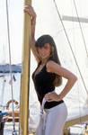 Caroline Munro boat
