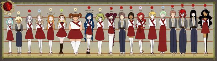Academie Yokai Students by Rachaella