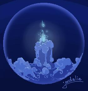 Blue Floating Lantern by Jendalee