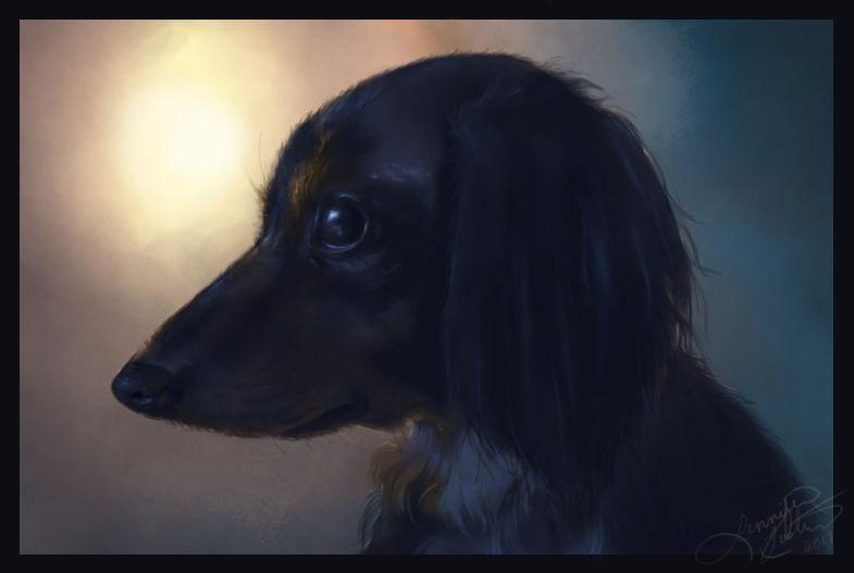 Bleu Portrait Painting