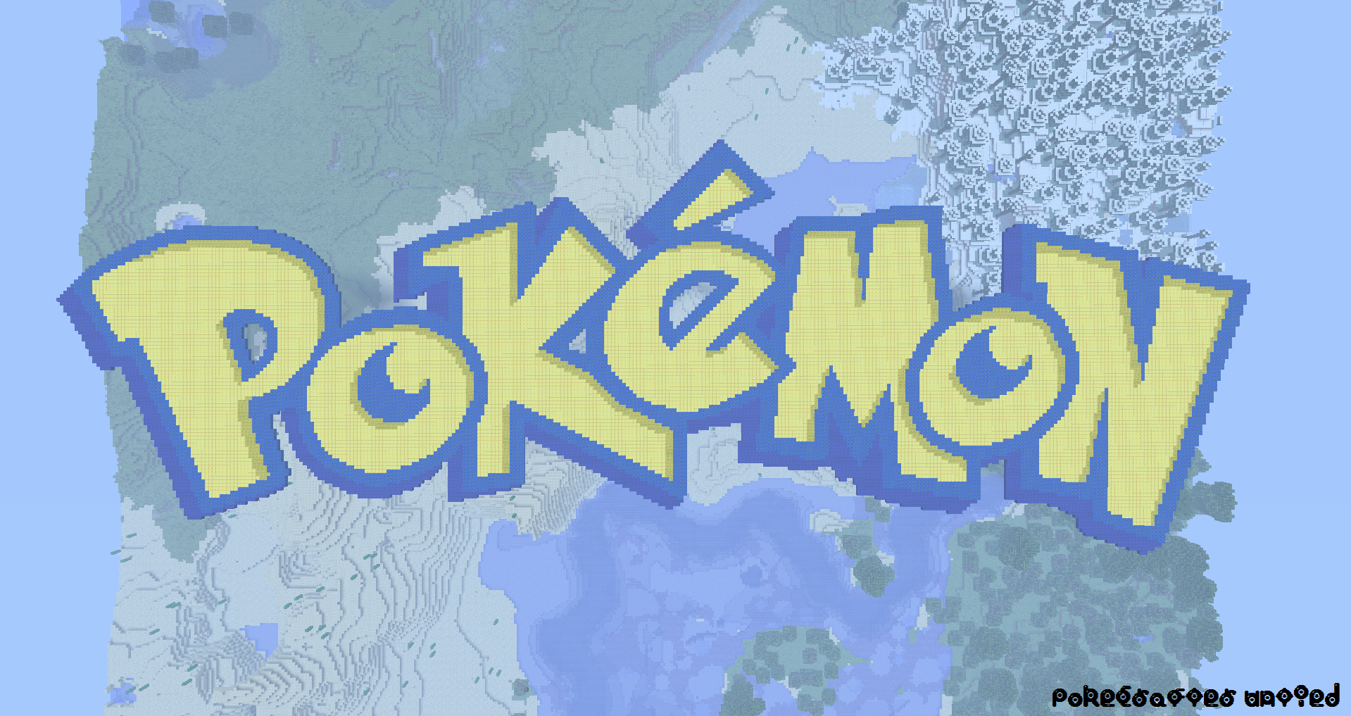 Pokemon logo in minecraft big enough by pkmnmc on - Pokemon logo minecraft ...