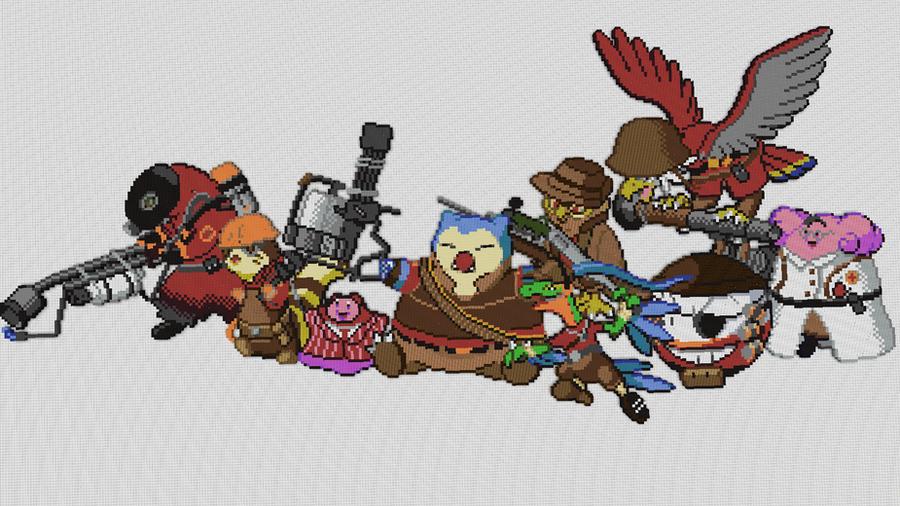 Pokemon Team Fortress (w/ Timelapse) by PkmnMc