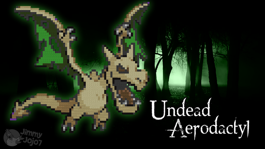 Undead Aerodactyl (H'ween Special) (w/ Timelapse) by PkmnMc