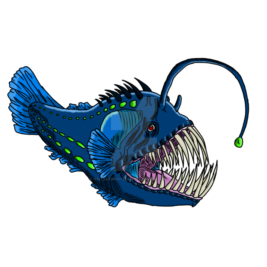 Angler Fish by HellsDementedAngel on DeviantArt for Angler Fish Png  104xkb